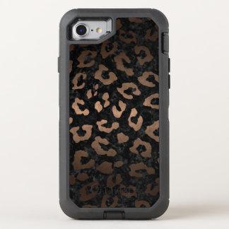 SKIN5 BLACK MARBLE & BRONZE METAL (R) OtterBox DEFENDER iPhone 8/7 CASE
