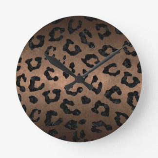 SKIN5 BLACK MARBLE & BRONZE METAL ROUND CLOCK