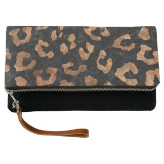 SKIN5 BLACK MARBLE & BROWN STONE (R) CLUTCH