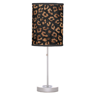 SKIN5 BLACK MARBLE & BROWN STONE (R) TABLE LAMP