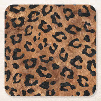 SKIN5 BLACK MARBLE & BROWN STONE SQUARE PAPER COASTER
