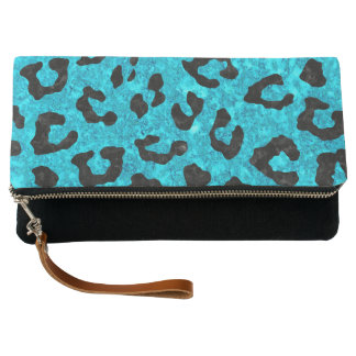 SKIN5 BLACK MARBLE & TURQUOISE MARBLE CLUTCH