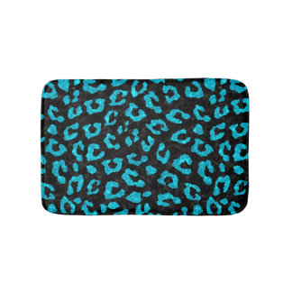 SKIN5 BLACK MARBLE & TURQUOISE MARBLE (R) BATH MAT
