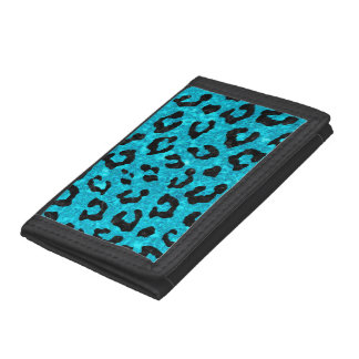 SKIN5 BLACK MARBLE & TURQUOISE MARBLE TRIFOLD WALLET