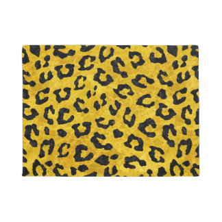 SKIN5 BLACK MARBLE & YELLOW MARBLE DOORMAT