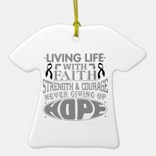 Skin Cancer Living Life with Faith Ornament