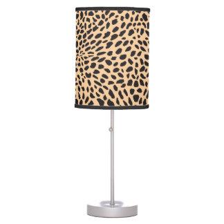 Skin cheetah decor table lamp