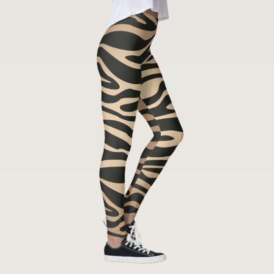 Skin colour Zebra Retro Animal Print Leggings