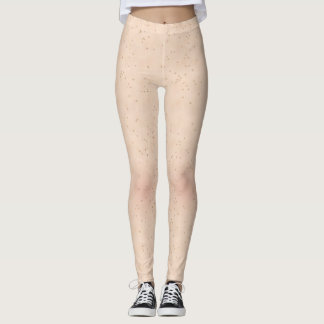 Skin Texture Pale With Lots of Freckles Leggings