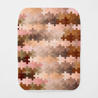 Skin Tone Jigsaw Pieces Burp Cloth