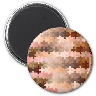 Skin Tone Jigsaw Pieces Magnet