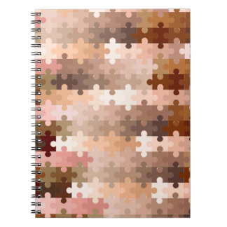 Skin Tone Jigsaw Pieces Spiral Note Books