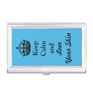 """Skincare Lovers: """"Keep Calm and Love Your Skin"""" Business Card Case"""