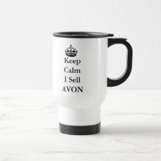 "Skincare Lovers: ""Keep Calm I Sell AVON"" 15 Oz Stainless Steel Travel Mug"