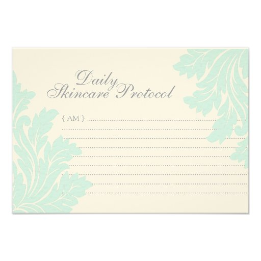 Skincare Protocol Cards Custom Invite