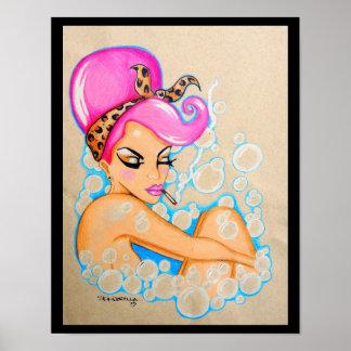 """Skinderella's """"Bubble Bath"""" print"""