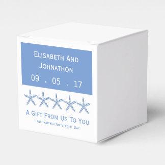 Skinny Blue Sea Star Wedding Favor Box