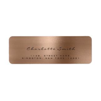 Skinny Blush Bronze Rose Lux Return Address Labels