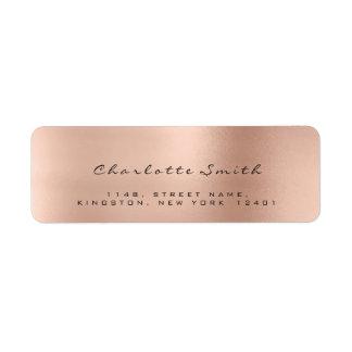 Skinny Blush Pink Rose Lux Return Address Labels