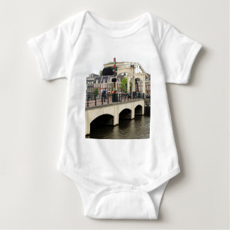 Skinny Bridge, Amsterdam, Holland Baby Bodysuit