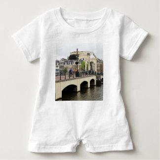 Skinny Bridge, Amsterdam, Holland Baby Romper