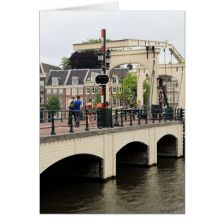 Skinny Bridge, Amsterdam, Holland Card