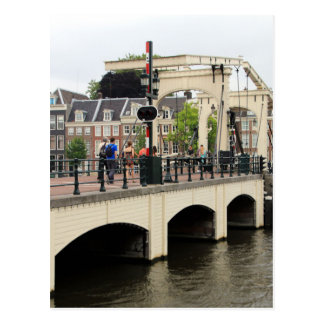 Skinny Bridge, Amsterdam, Holland Postcard