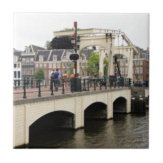 Skinny Bridge, Amsterdam, Holland Tile