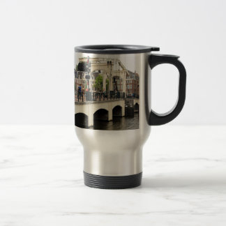 Skinny Bridge, Amsterdam, Holland Travel Mug