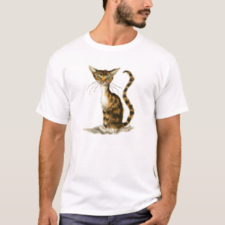 Skinny brown tabby cat T-Shirt