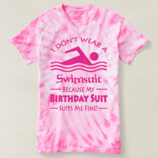 Skinny Dipping Birthday Suit T-shirt