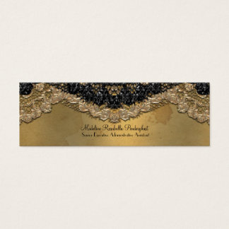 "Skinny Elegant Segonzac Victorian 3.5"" x 2"" Mini Business Card"