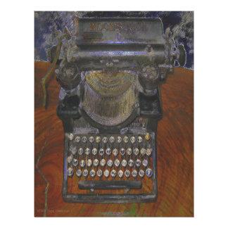 Skinny Old Antique Typewriter Customized Letterhead