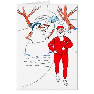 Skinny Santa Christmas Card for Runner