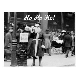 Skinny Santa, early 1900s Postcard