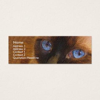 Skinny Template - Siamese Cat Mini Business Card