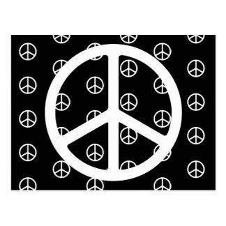 Skinny White Peace Symbol Custom Postcard
