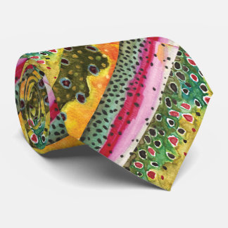 Skins of Three Beautiful Trout Tie