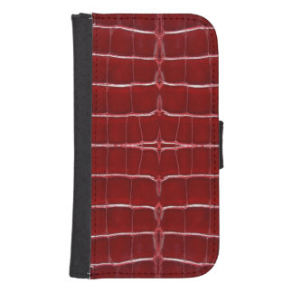 Skinz 1 Leather Lizard Skin RED Phone Wallet