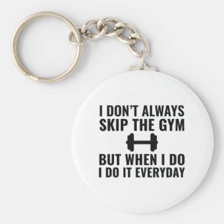 Skip The Gym Basic Round Button Keychain