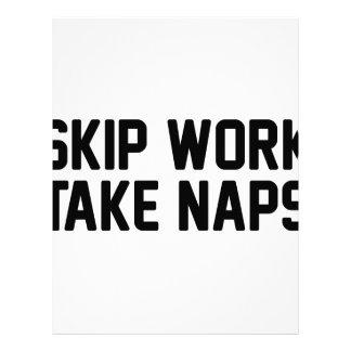 Skip Work Take Naps Letterhead