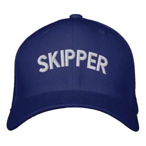 Skipper text baseball cap