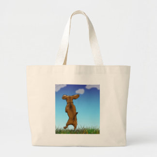 skipping_doxie_color large tote bag