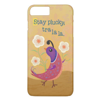 Skipping Quail with Flowers iPhone 7 Plus Case