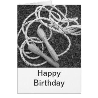 Skipping Ropes Happy Birthday Card