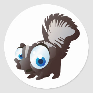 Skippy The Skunk Classic Round Sticker