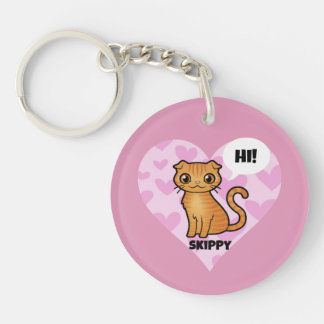 Skippy's Super Cute Double-Sided Round Acrylic Keychain