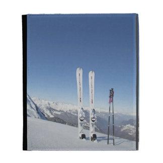 Skis and Ski Poles iPad Folio Cover