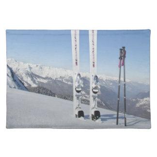 Skis and Ski Poles Place Mats