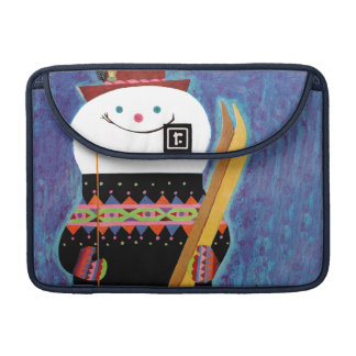 Skis for Snowman MacBook Pro Sleeves